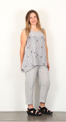 Shepards Linen Sleeveless Tunic Taupe
