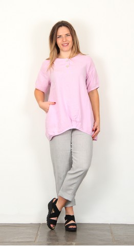 Shepards Linen Tuck Tunic Lavender