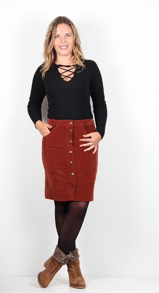 Soyaconcept Nugat Cord Skirt Rust