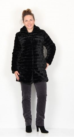 Soyaconcept Beren Faux Fur Jacket Black
