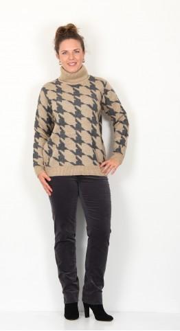 Soyaconcept Beddi Roll Neck Pullover Camel Melange