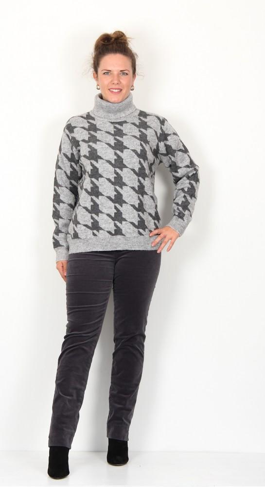 Soyaconcept Beddi Roll Neck Pullover Grey Melange
