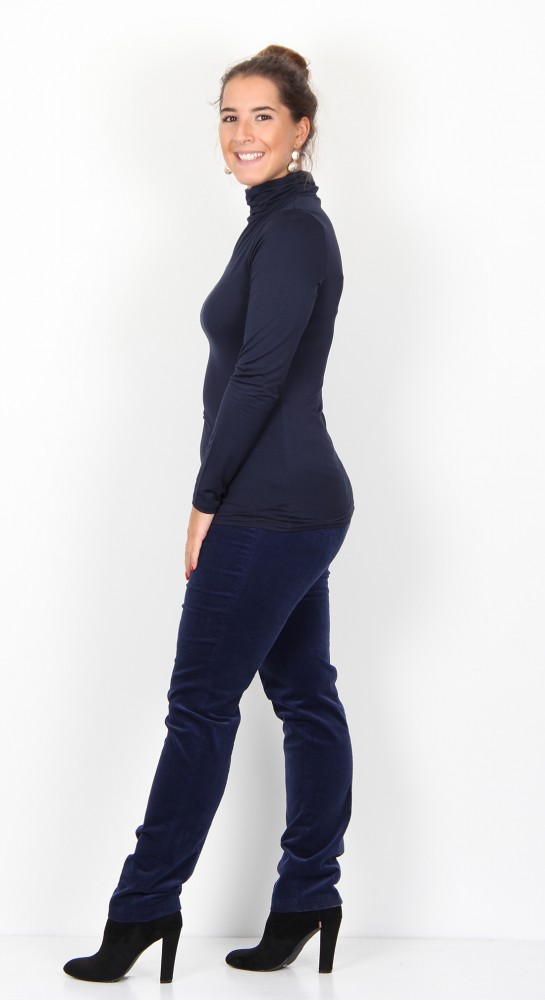 Soyaconcept Marcia 12 Roll Neck Top Navy