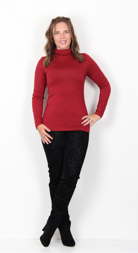 Soyaconcept Marcia 12 Roll Neck Top Cabernet