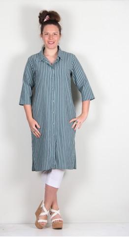 Thing Cotton Stripe Shirt Dress Jade