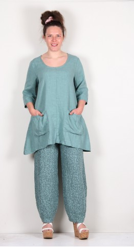 Thing Linen Two Pocket Tunic Jade