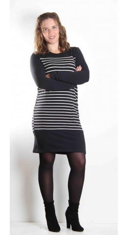 Thought Clothing Cristina Dress Black Stripe