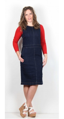 Thought Clothing Elaine Pinafore Dress Denim