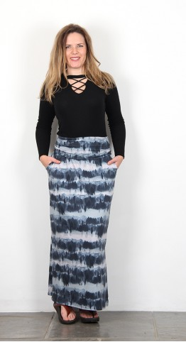 Thought Clothing Ingryd Maxi Skirt Ocean Blue