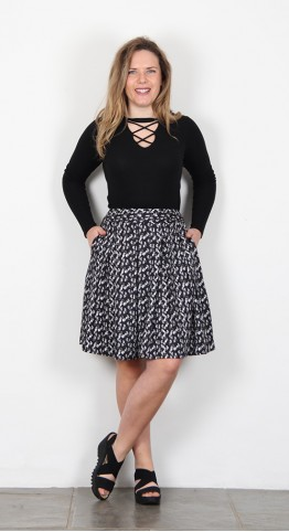 Thought Clothing Renee Skirt Graphite
