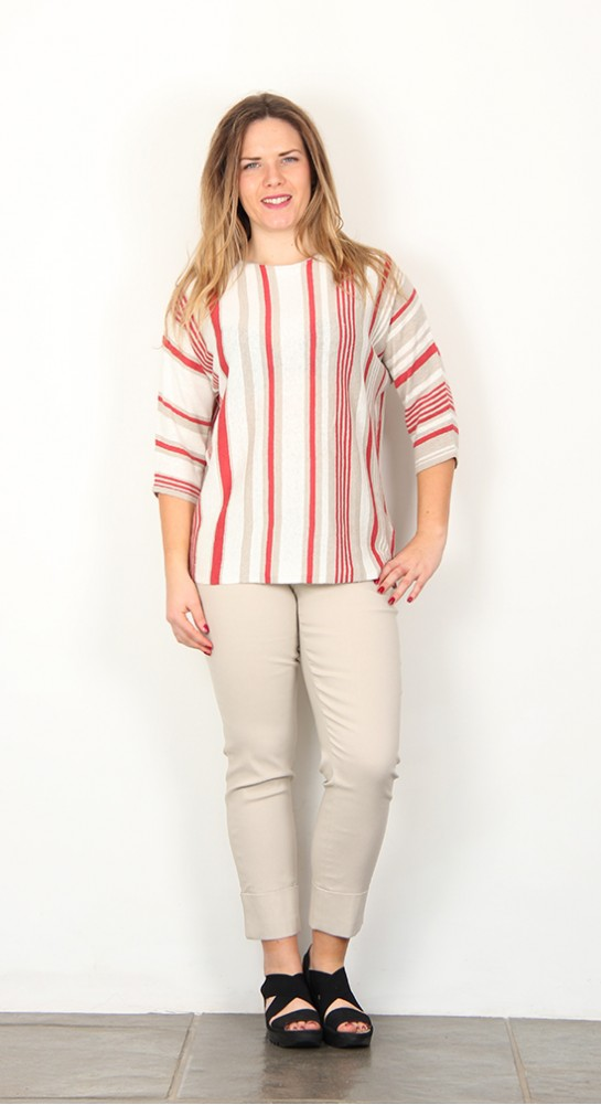 Thought Clothing Bembe Batwing Top Oat Stripe