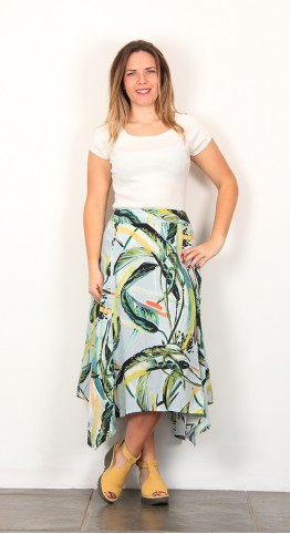 Thought Clothing Garabina Banana Print Skirt