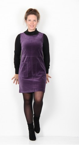 Thought Clothing Zillah Organic Cotton Pinafore Royal Purple