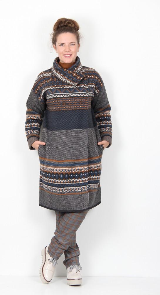 Thought Clothing Nea Wool Cardigan Coat Flint Grey