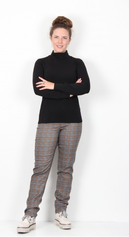 Thought Clothing Alvilda Roll Neck Bamboo Top Black
