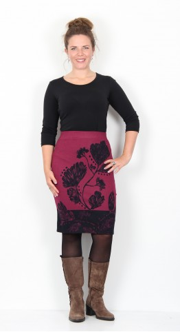 Thought Clothing Desdemona Organic Cotton Skirt Bilberry