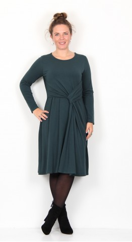 Thought Clothing Tamora Bamboo Dress Deep Teal Green