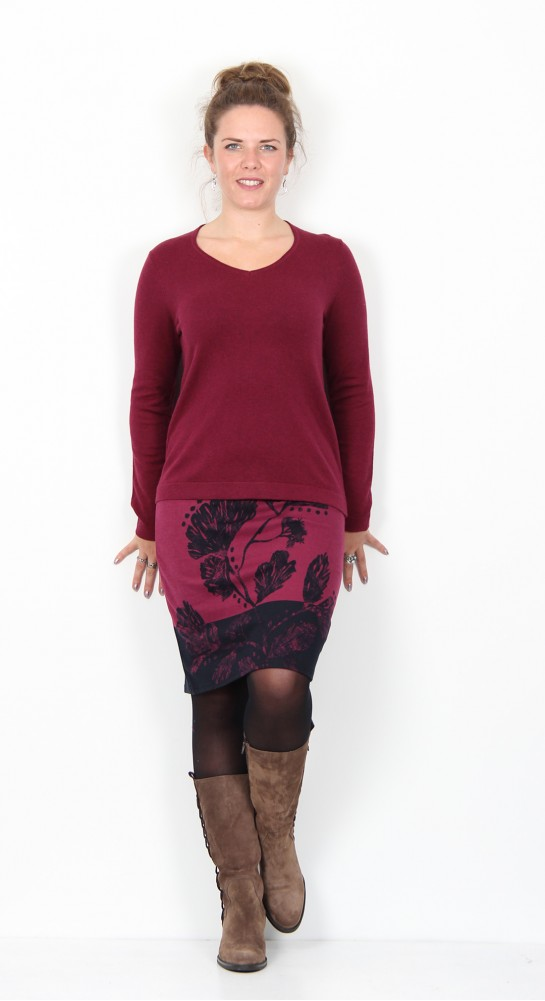 Thought Clothing Hildur Wool & Organic Cotton Jumper Bilberry