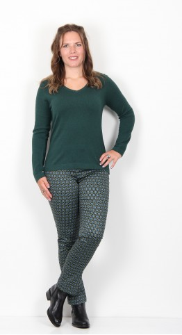 Thought Clothing Hildur Wool & Organic Cotton Jumper Deep Teal Green