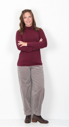 Thought Clothing Halfalda Bamboo Roll Neck Top Bilberry