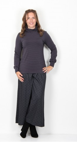 Thought Clothing Halfalda Bamboo Roll Neck Top Midnight