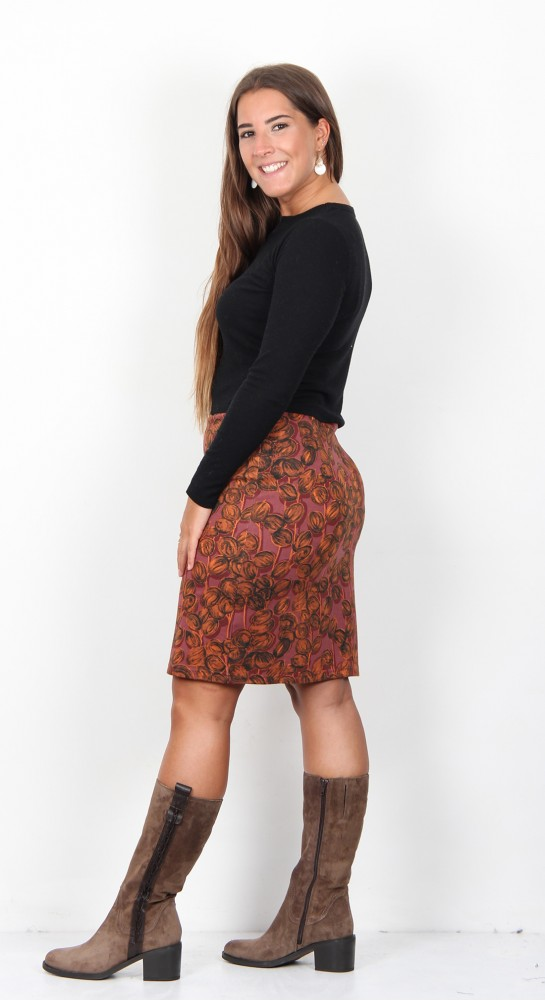 Thought Clothing Ilona Skirt Garnet Red