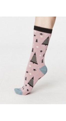 Thought Clothing Merry Socks Pink