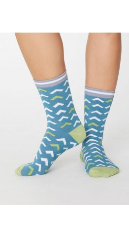Thought Clothing Arrow Socks Lagoon Blue