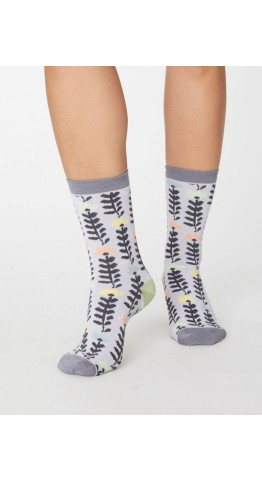 Thought Clothing Lore Floral Socks Sea Mist