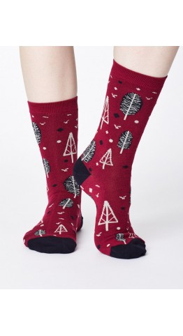 Thought Clothing Erskie Socks Cranberry