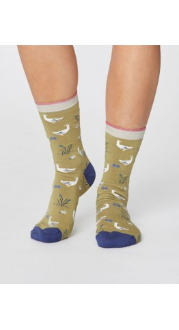 Thought Clothing Goosey Lucy Bird Socks Pear
