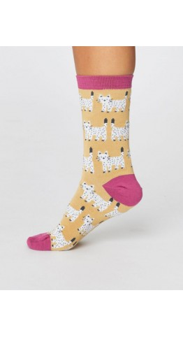 Thought Clothing Cute Cat Socks Mimosa Yellow