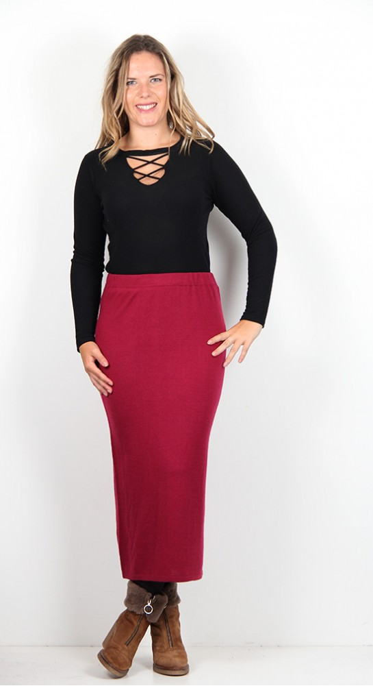 Two Danes Mildred Skirt French Ruby