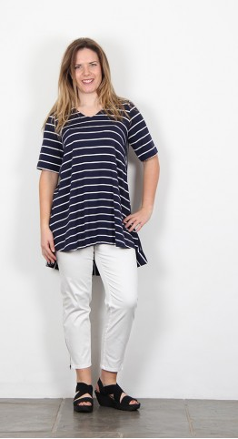 Two Danes Bao Tee Shirt French Navy Stripe