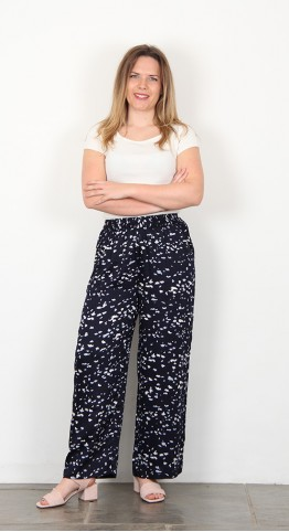 Two Danes Pazia Trousers Heaven Print Navy