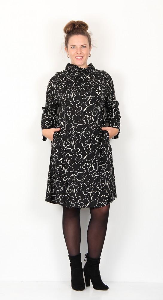Two Danes Isabel Dress Black Ivory
