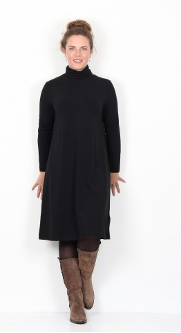 Two Danes Basha Roll Neck Dress Black