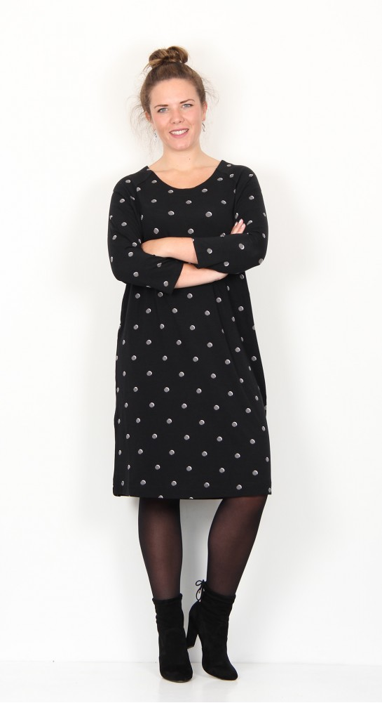 Two Danes Birdi Dress Black Granite Spot
