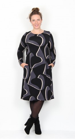 Two Danes Bonnie Dress Black Ivory