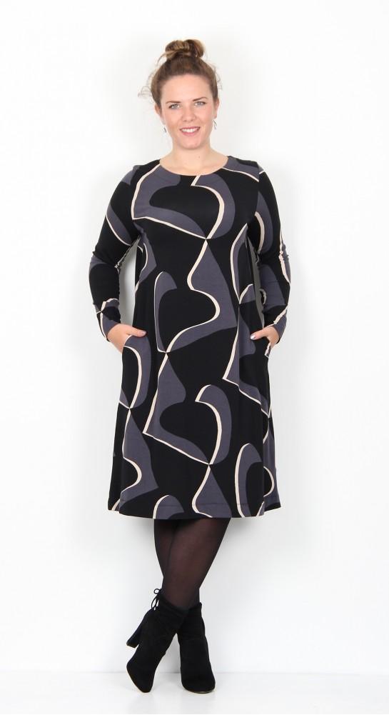 Two Danes Bonnie Dress Black Ivory