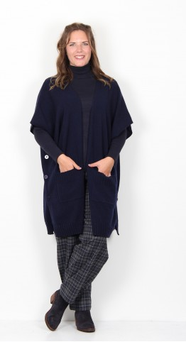 Two Danes Gudron Lambs Wool Cape Navy