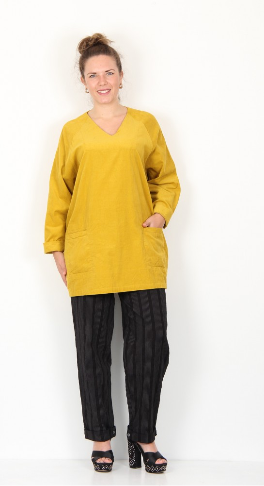 Two Danes Clover Corduroy Tunic Curry