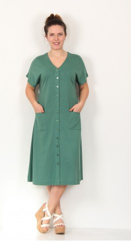 Two Danes Henny Dress Mineral Green