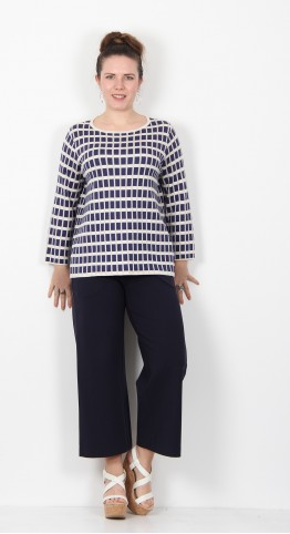 Two Danes Nonny Knit Sailor Check