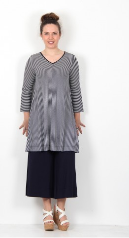 Two Danes Bryce Tunic Dark Navy Soft White Stripe