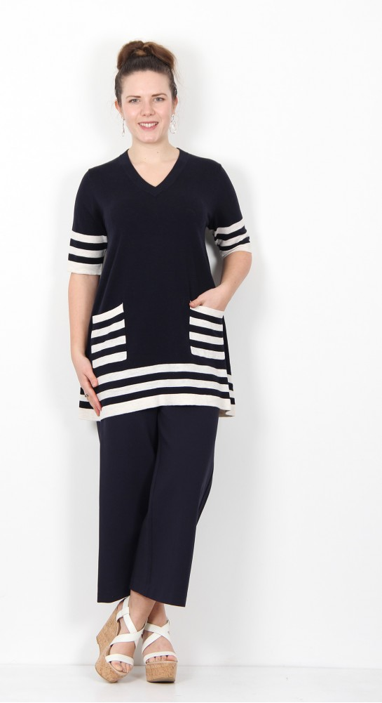 Two Danes Karla Tunic Dark Navy