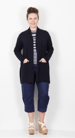 Two Danes Michelle Edge To Edge Cardigan Dark Navy