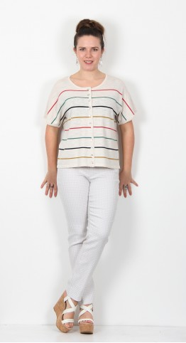 Two Danes Ketty Cardigan Multi Stripe