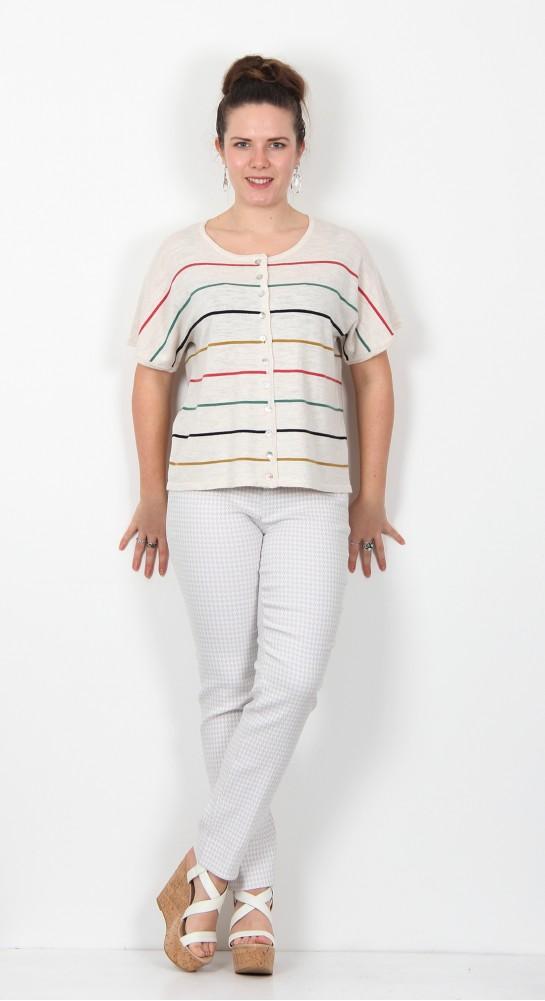 Two Danes Ketty Cardigan Multi Stripe