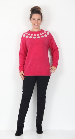 Two Danes Mars Spot Pullover Pink